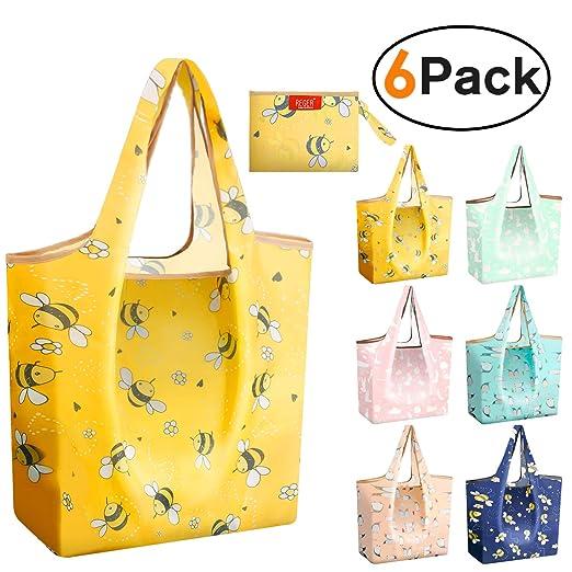 Bolsas reutilizables para la compra, plegables con bolsa ...