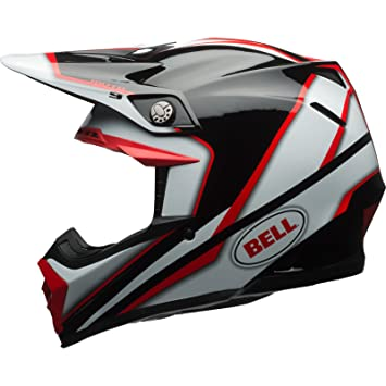 Bell Cascos MX 2017 Moto-9 adultos casco, Spark, color rojo/negro
