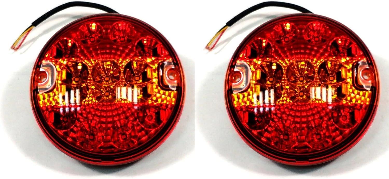 2x Led 12v 24v RÜcklicht RÜckleuchten Pkw AnhÄnger Wohnwagen Leuchte Blinklicht140mm Auto