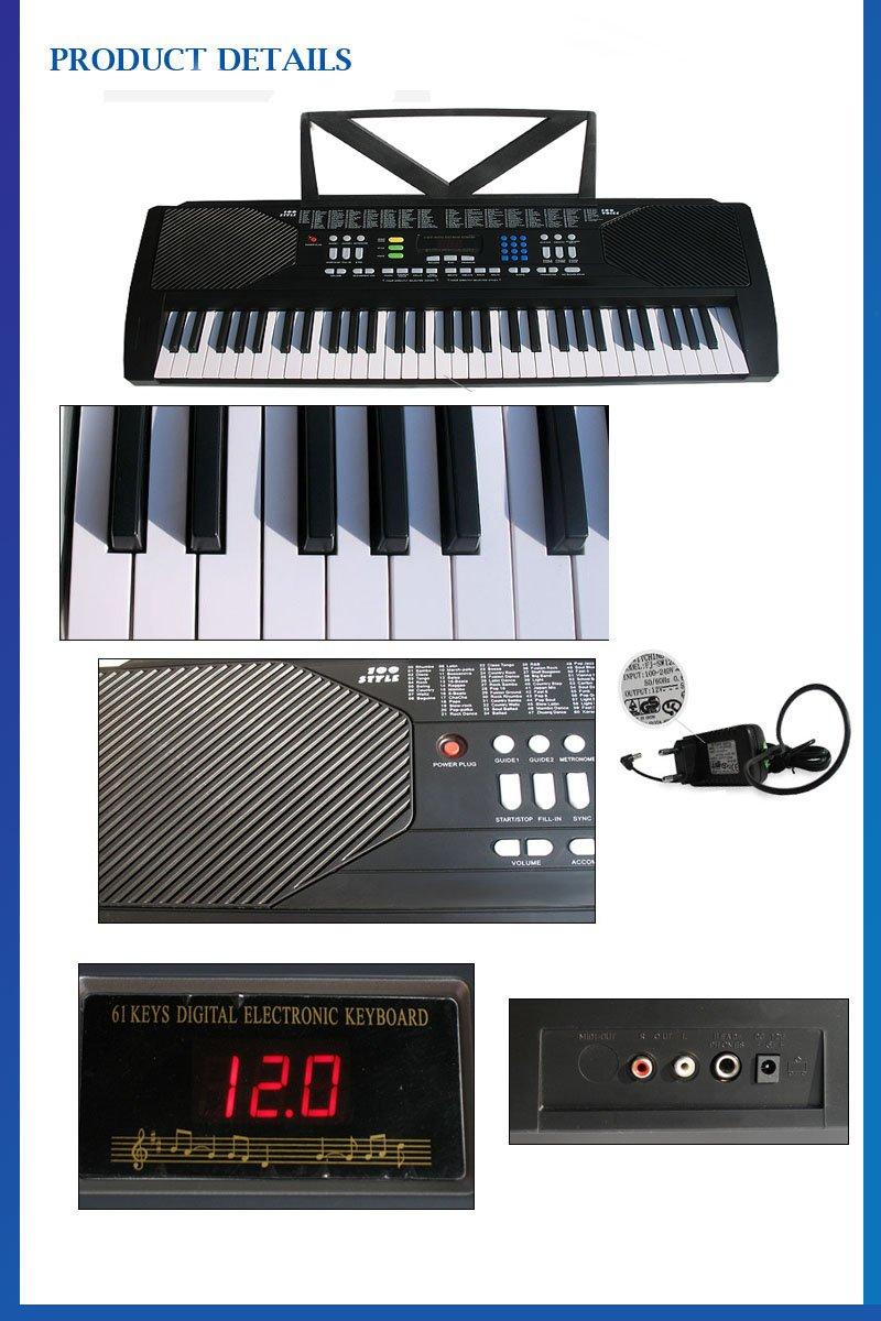 Amazon.com: ARK-2177 Black 61 Key Electronic Music Keyboard E ARK-2177: Musical Instruments