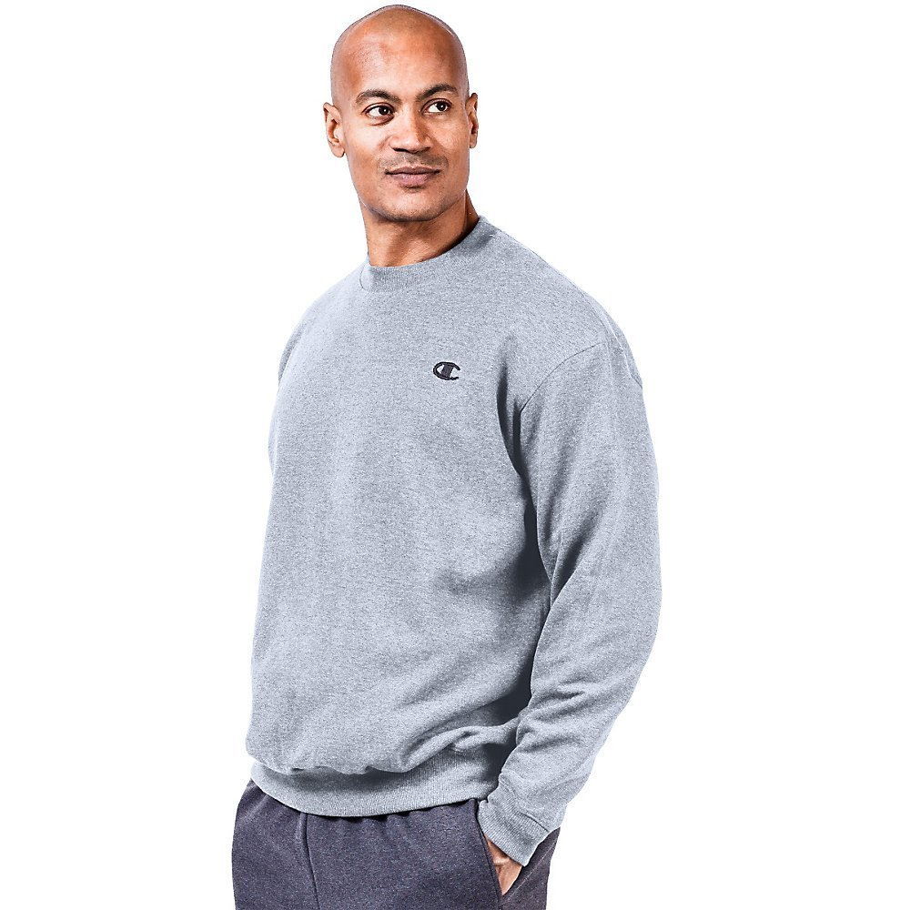 Champion Big & Tall Men's Fleece Sweatshirt-6XL-Heather Grey by Champion