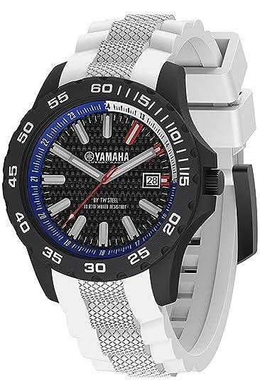 Yamaha Y5 TW Steel - Reloj con caja de carbono y correa de silicona, 40mm, color blanco: Amazon.es: Relojes