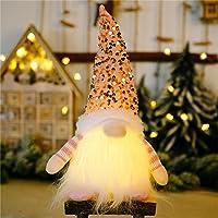 Faxiang Christmas gnome luzes, pelúcia artesanal Scandinavian Swedish Tomte, Santa Figurine Elf Boneca de Pelúcia Festa…