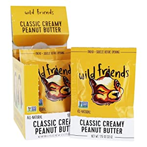 Wild Friends Foods, Peanut Butter Creamy Classic Packet, 1.15 Ounce