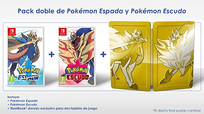 Pack: Pokémon Espada + Pokémon Escudo: nintendo switch ...