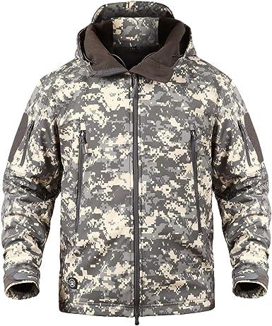 Armée Outdoor Tactique Veste Homme Imperméable Légère Softshell Casual Manteaux ~