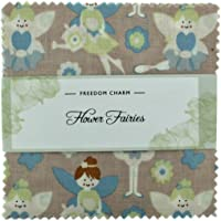Fabric Freedom Tela Libertad de Flores Hadas Pastel