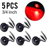 """5x3/4"""" Inch Mount Smoked Lens & Red LED Clearance Markers Sealed, Side Marker lights, Led Trailer Marker lights, Trailer Marker Light"""