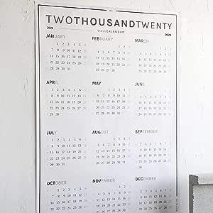 Calendario de pared y planificador de año 2020 (A0), diseño octogonal: Amazon.es: Oficina y papelería