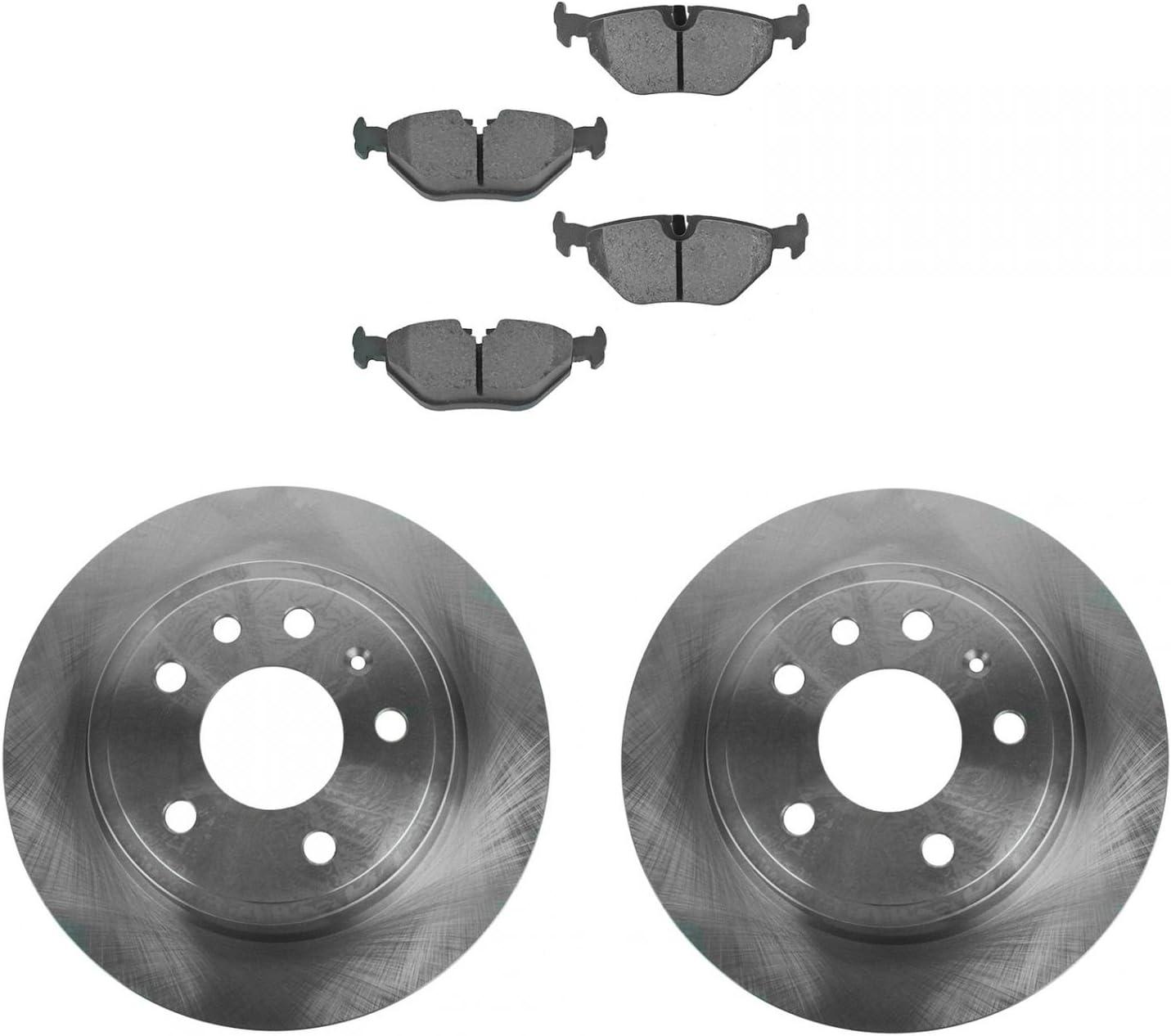 For 2005 Saab 9-3 Hart Brakes Front Rear Semi-Metallic Brake Pads