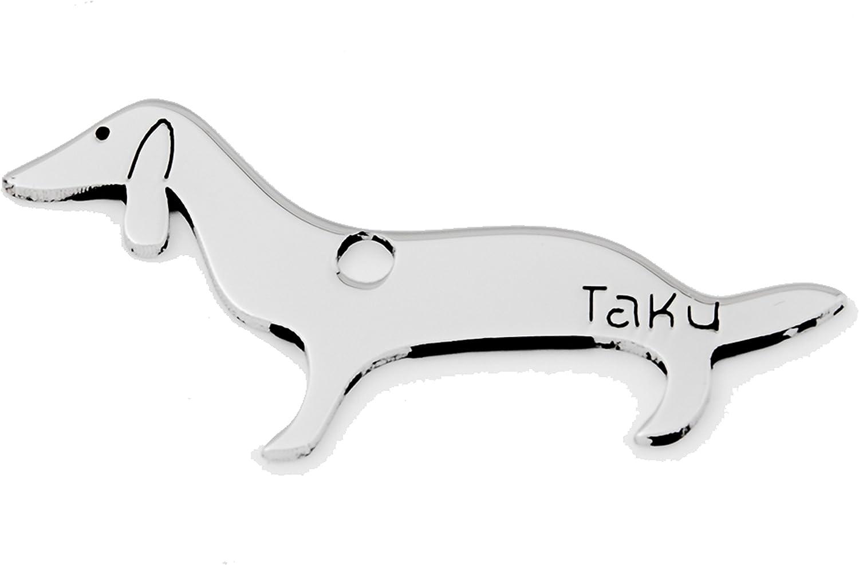 Stainless steel Dachshund sausage dog keyring
