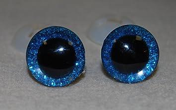 3D 16mm 3/Paar blau Celloexpress/® Augen mit Schrauben aus Kunststoff f/ür die Herstellung von Spielzeug und Teddyb/ären