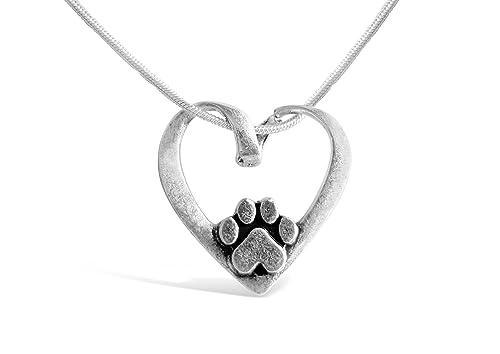 Rosa Vila con forma de corazón con huellas de perro Collar, cachorro Collar para los