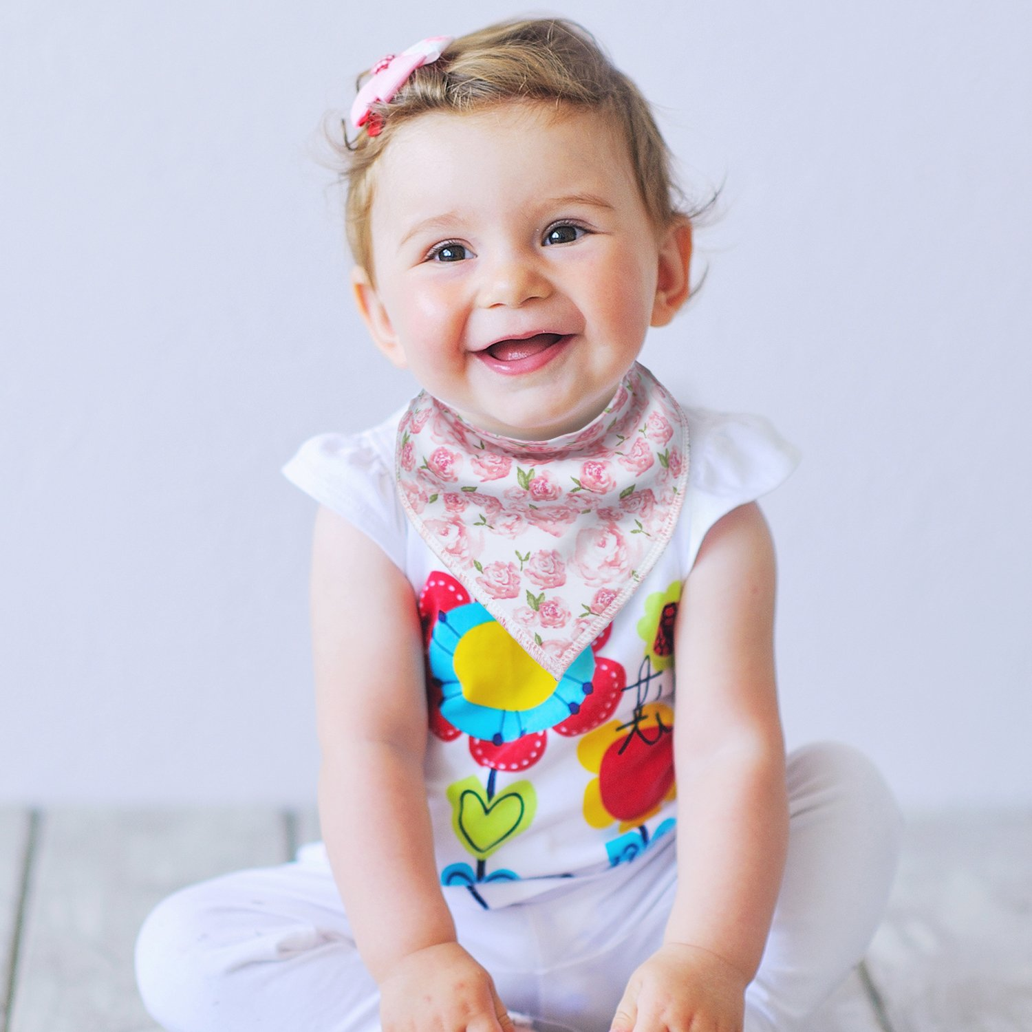 10-Pack Baby Girl Bandana Drool Bibs for Drooling and Teething by MiiYoung by MiiYoung (Image #5)