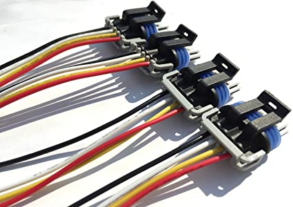 Amazon.com: Ignition Coil Connectors Wiring Harness LS2 LS3 LS7 D581 on spark plug wire harness, throttle body wire harness, steering wheel wire harness, blower motor wire harness, engine wire harness, egr valve wire harness, power steering pump wire harness, fuel tank wire harness, ignition switch wire harness, steering column wire harness, fuel pump wire harness, air conditioner wire harness, computer wire harness, air bag wire harness, seat belt wire harness,