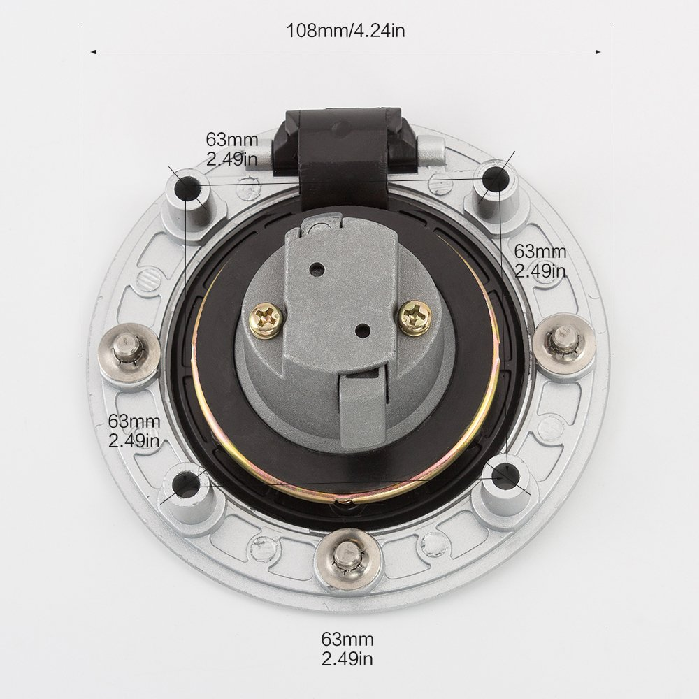 for Suzuki GS500 2001-2010 Motorcycle Fuel Gas Cap Ignition Switch Lock