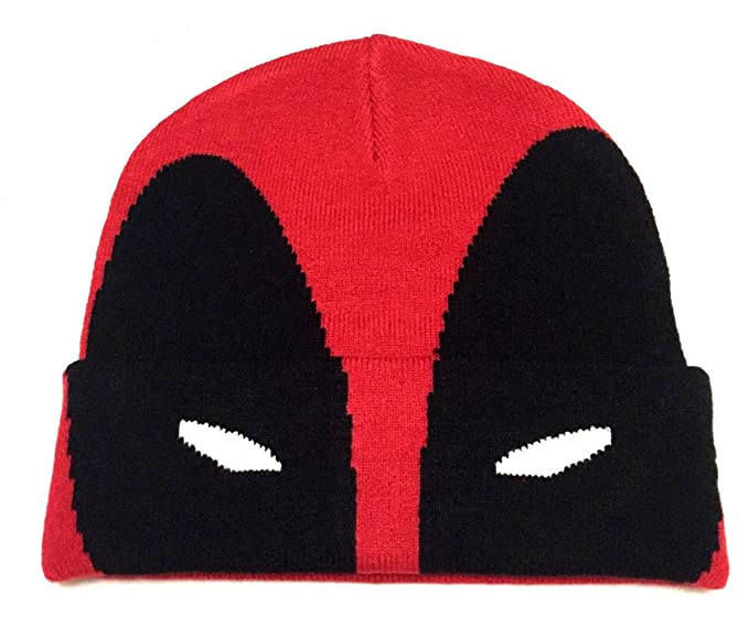 840eb3d5708 Image Unavailable. Image not available for. Color  Marvel Comics Deadpool  Mask Cuff Beanie