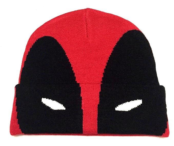 de8e4ede410 Amazon.com  Marvel Comics Deadpool Mask Cuff Beanie  Clothing