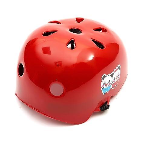Universal Niñas Niño Rojo Casco de seguridad, 2 – 5 años Scooter Skateboard Roller Blades