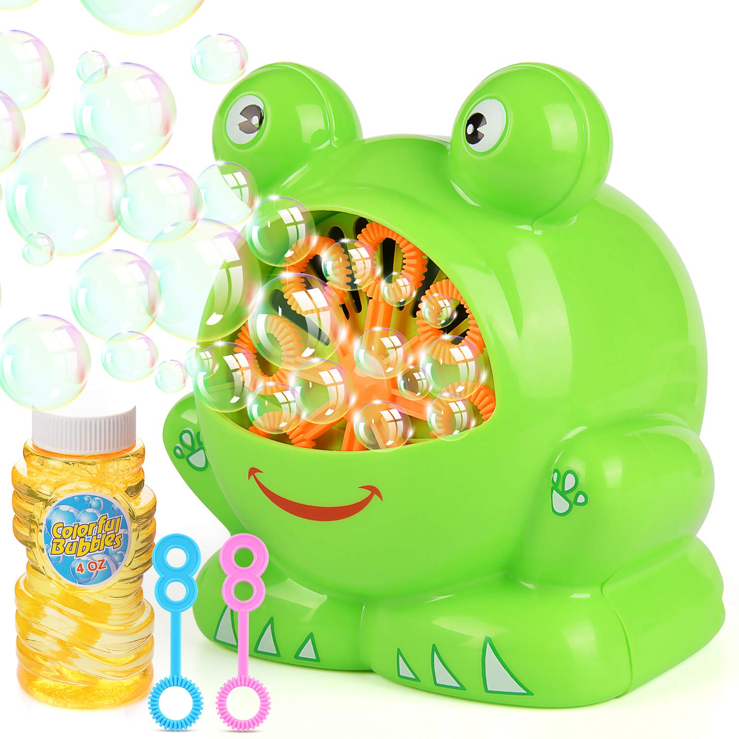 Elover Bubble Machine with Bubble Solution Automatic Bubble Machine for Kids with High Output Over 500 Bubbles Per Minute for Park Christmas Party Wedding Battery Operated Not Include