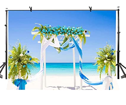 Amazon Lylycty 7x5ft Wedding Theme Backdrop Seaside Outdoor