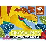 Dinosaurios (recortables 3D): Recortables para colorear