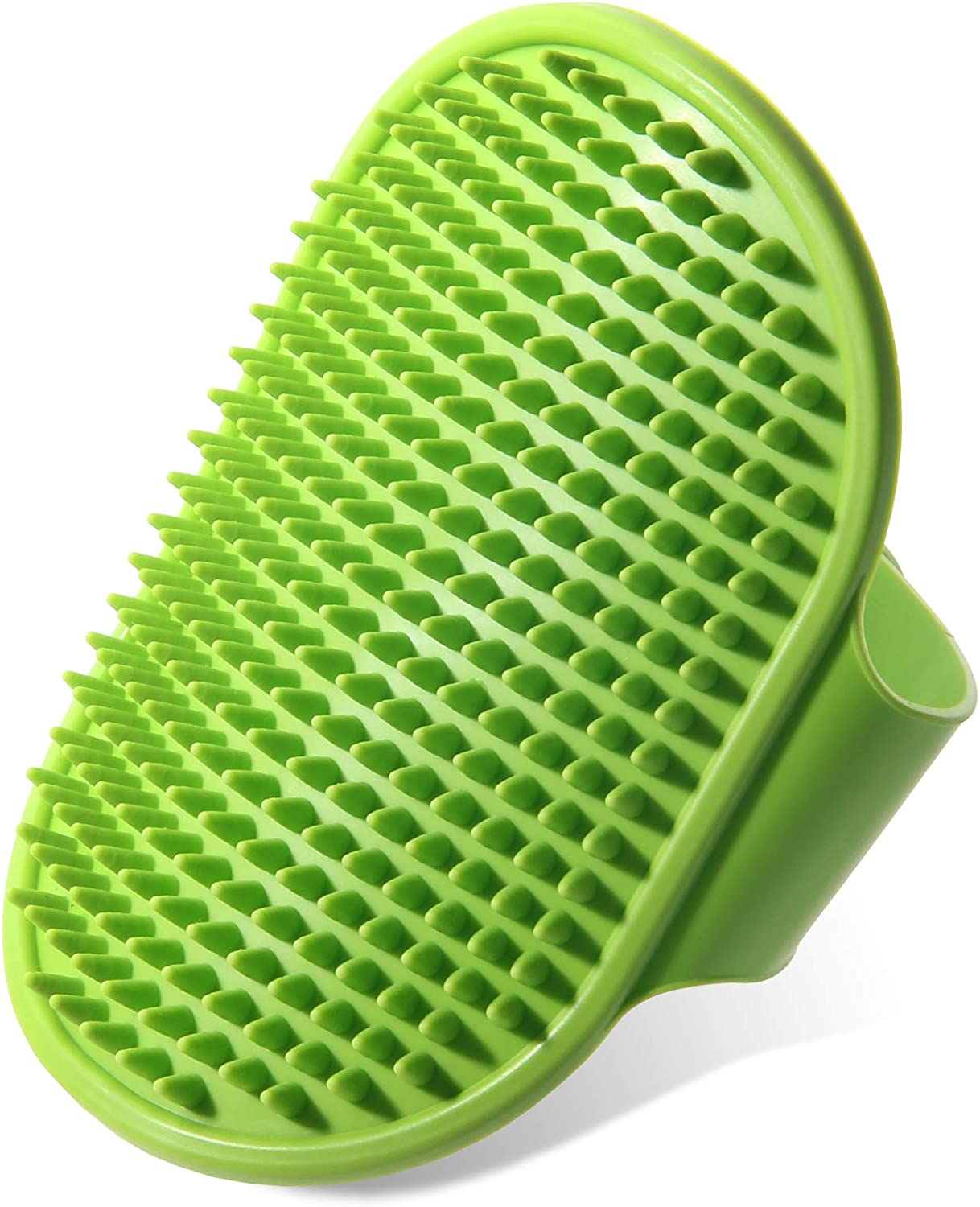 Rabbits Horses- Remove More Dirt /& Loose Hair. Best Pet Bathing /& Soothing Massage Rubber Comb with Adjustable Ring Handle for Medium /& Large Dogs Cats Premium New Grooming Pet Shampoo Bath Brush