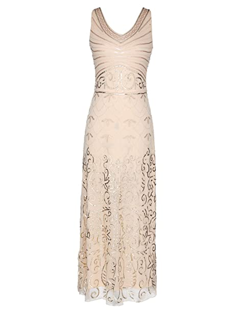 Amazon.com: celeblink vestido formal de lentejuelas vintage ...
