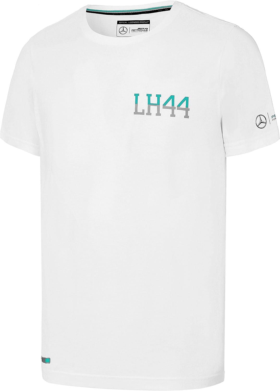Mercedes AMG Petronas Motorsport F1 Womens Lewis Hamilton #44 T-Shirt Black