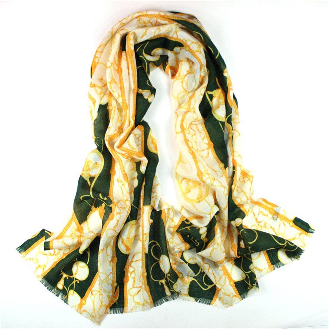 Baumwolle Schal Schal Damen Imitation Nachahmung Wolle Schal   Lady Winter Schal, Tinte Grün