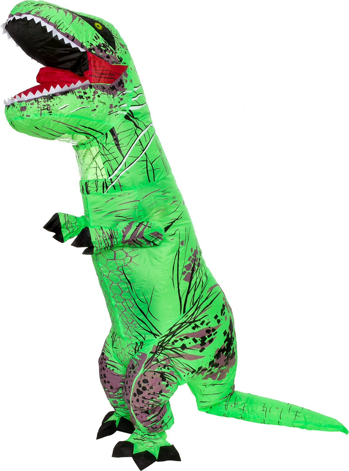 Splurge Worthy Toys and Games Inflatable Dinosaur Costume - Adult Giant Jurassic T-Rex Blow up Halloween Costume by (Green)