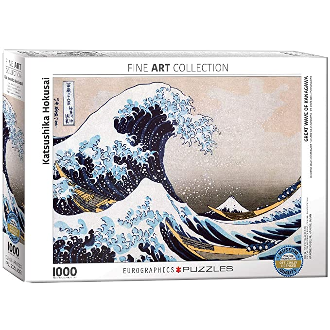 37e026c7df66 Amazon.com  EuroGraphics Great Wave Kanagawa by Hokusai Puzzle  (1000-Piece)  Toys   Games