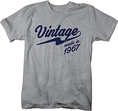Camisas por Sarah de hombre Vintage fabricado en 1967 camiseta Retro cumpleaños camisas: Amazon.es: Ropa y accesorios