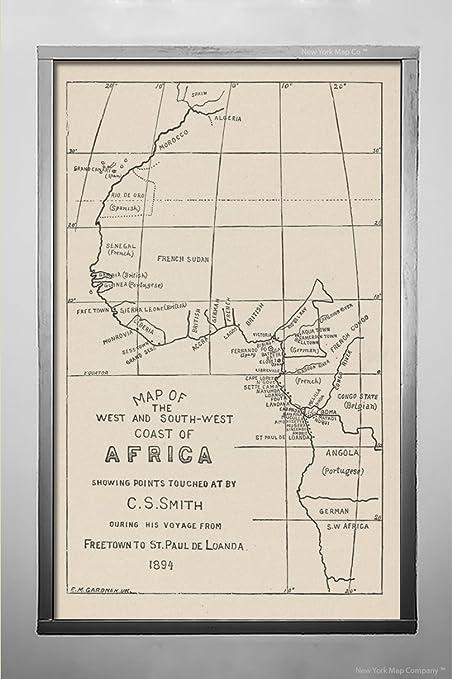 West Coast Map South Africa.Amazon Com 1895 Map Nashville Tn Map The West South West