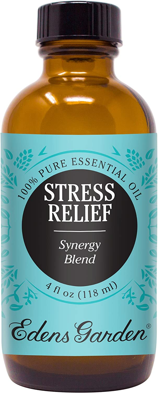 Edens Garden Stress Relief Essential Oil Synergy Blend, 100% Pure Therapeutic Grade (Anxiety & Stress) 118 ml