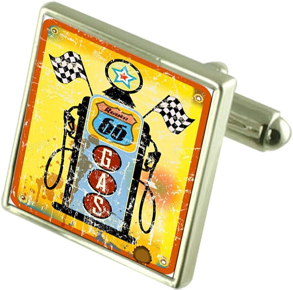 Route 66 Petrol Pump Cufflinks