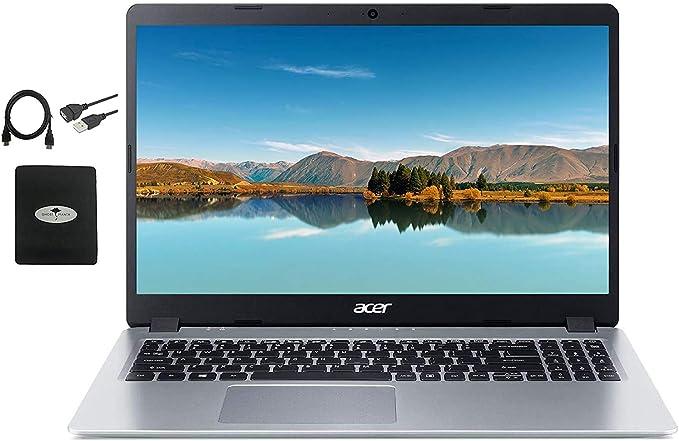 "2020 Newest Acer Aspire 5 Slim Laptop 15.6"" FHD IPS Display, AMD Ryzen 3 3200u (up to 3.5GHz), Vega 3 Graphics, 8GB RAM DDR4, 256GB PCIe SSD, Backlit KB,WiFi,HDMI, Win10 w/Ghost Manta Accessories | Amazon"