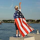 AMNPOLEN American Flag Costume Cape USA Patriotic