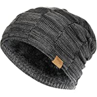 Vgogfly Slouchy Beanie for Men Winter Hats for Guys Cool Beanies Mens Lined  Knit Warm Thick ede9b451681