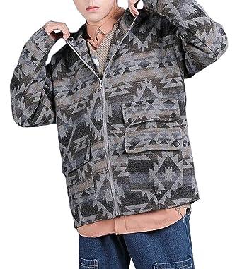 Amazon.com: CRYYU - Chaqueta con capucha para hombre, talla ...