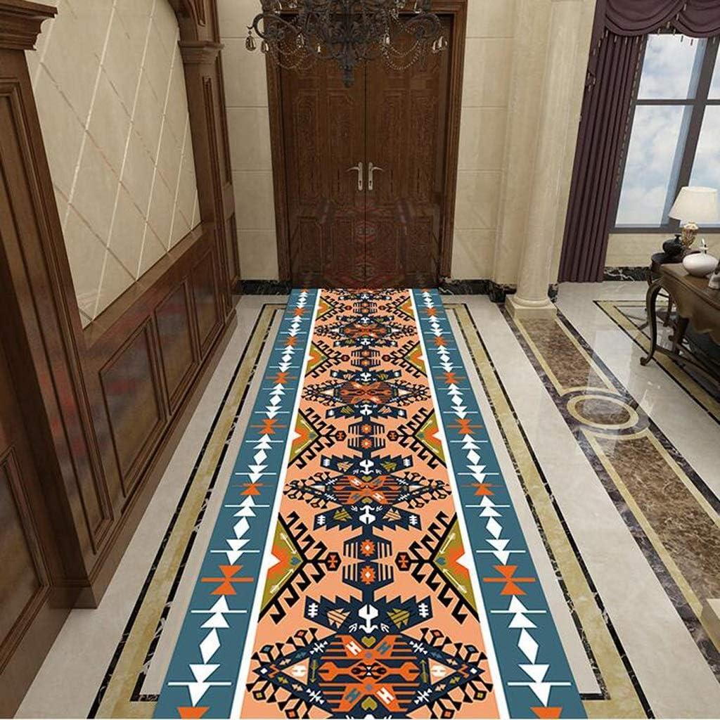 Color : A, Size : 17m Mbd Overall Design Corridor Runner Carpet Anti-Skid Area Carpet Washable Inlet Custom Soft