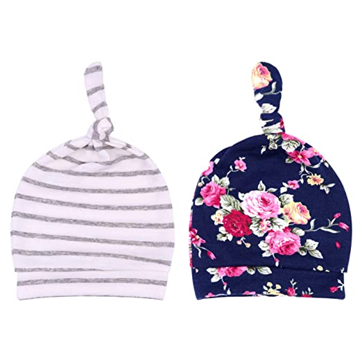2848d7765cf DRESHOW BQUBO Newborn Hospital Hat Infant Baby Hat Cap with Big Bow Soft  Cute Knot Nursery