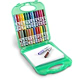 Crayola Pip-Squeaks Washable Markers & Paper Set, 25 Markers, 40 Sheets of Paper, and Durable Case, Travel Coloring Kit