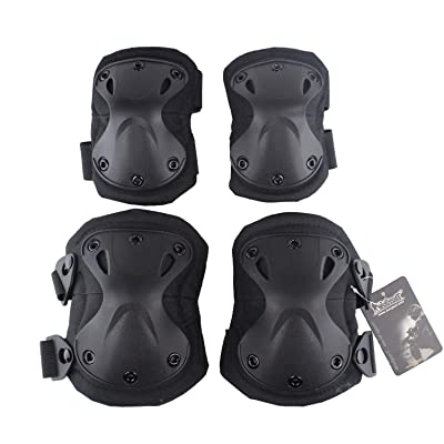 Will Outdoor Tactical Sports Knee and Elbow Pads for Hunting Paintball X-Shaped Knee Pads CS and Extreme Sports (Multi-Color) : Sports & Outdoors