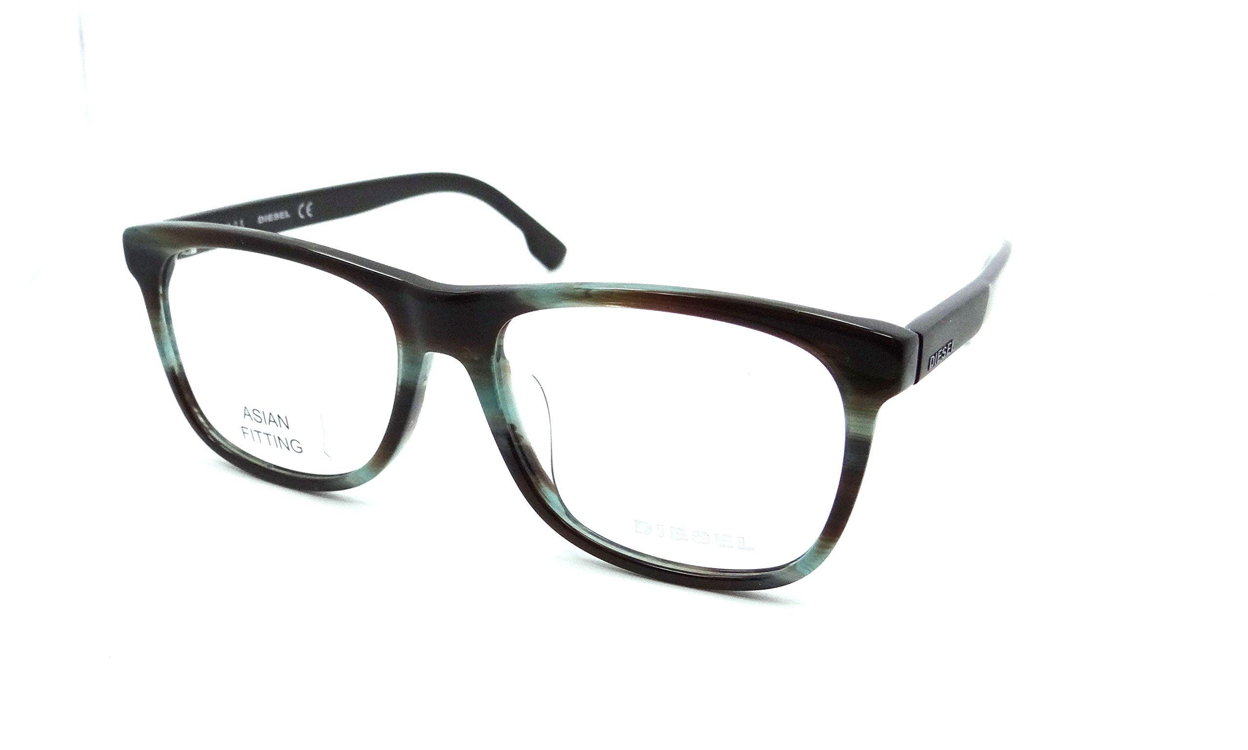 Diesel Rx Eyeglasses Frames DL5213-F 095 54-16-145 Brown Azure Striped Asian Fit