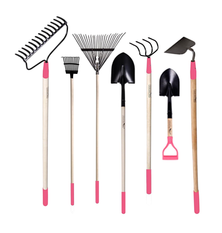 Garden tool set womens pink rakes cultivator shovel shrubs for Garden tool set for women