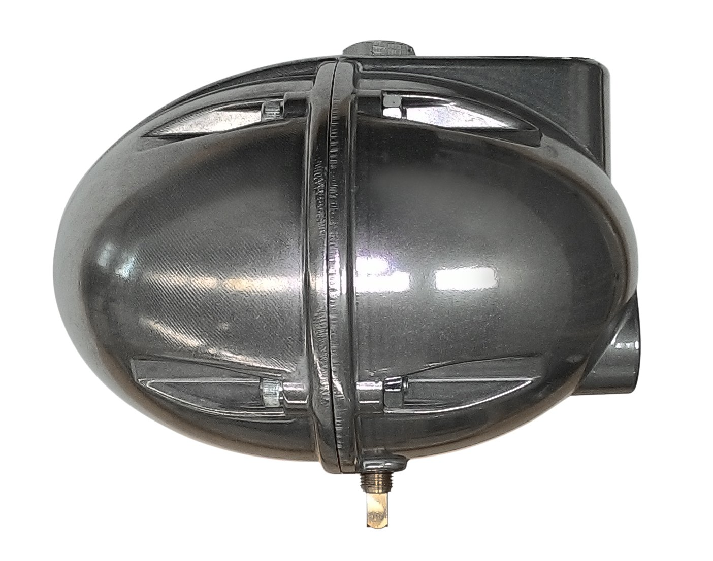 Automatic Float Drain for Compressed Air Tanks, Filters, Aftercoolers, Dryers - Float Operated Egg Drain/Football Drain - 1/2'' NPT, 230 PSI Max Pressure, P/N MDTOT-01 by Alpha-Pure by ALPHA-PURE