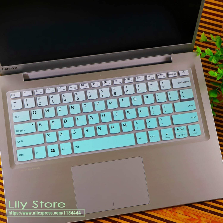 for Lenovo Yoga 530 530S 530 14Ikb Yoga 730 730S 530 Ideapad 330S 530S Miix 630 2018 Silicone Keyboard Cover Skin Protector-Candyblack