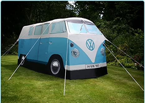 Amazon.com  VW Volkswagen T1 C&er Van Adult C&ing Tent - Blue - Multiple Color Options Available  Sports u0026 Outdoors & Amazon.com : VW Volkswagen T1 Camper Van Adult Camping Tent - Blue ...