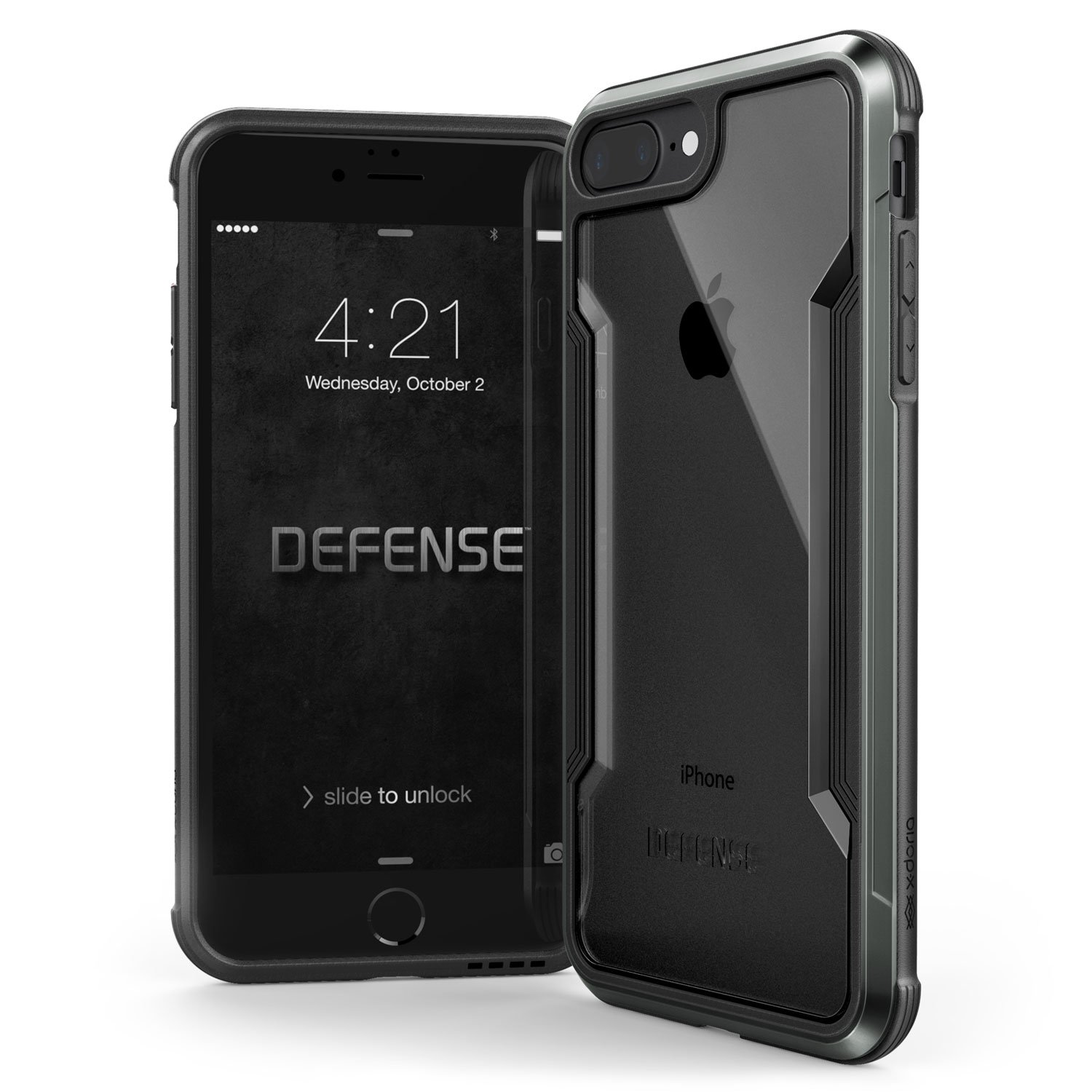 iPhone 8 Plus & iPhone 7 Plus Case, X-Doria Defense Shield - Military Grade Drop Tested, Anodized Aluminum, TPU, and Polycarbonate Protective Case for ...